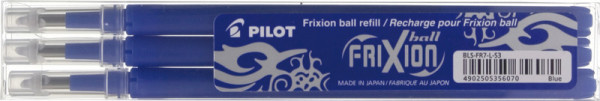 Frixion Patronen 3er SET Aktion 0.7 blau
