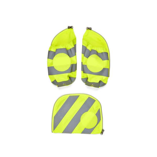 Ergobag pack & cubo Seitentaschen Zip-Set mit Reflektor gelb ab Mod. 20