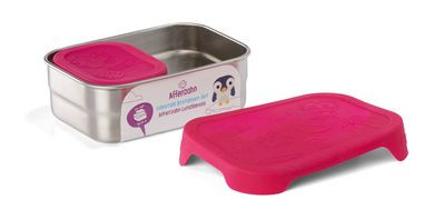Edelstahl Brotdosen-Set pink