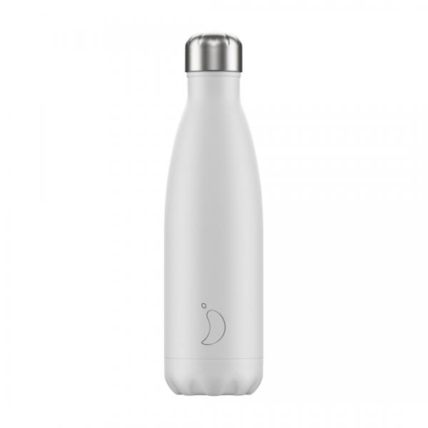 Chilly's Bottle 500ml Monochrome White
